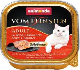 ANIMONDA Katzennahrung Vom Feinsten Schale mit Schlemmerkern Rind+Huhn+Kräuter