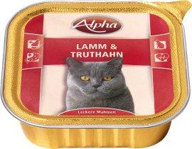 ALPHA Katzennahrung Schale Lamm und Truthahn 32x100 g