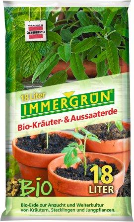 IMMERGRÜN Bio-Kräuter- und Aussaaterde 18 l