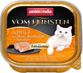 ANIMONDA Katzennahrung Vom Feinsten Schale mit Schlemmerkern Huhn+Rind+Karotte
