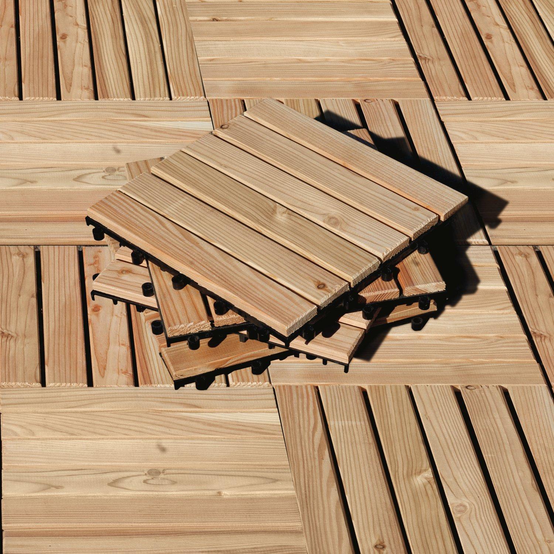 Holzfliesen Balkon Lärche