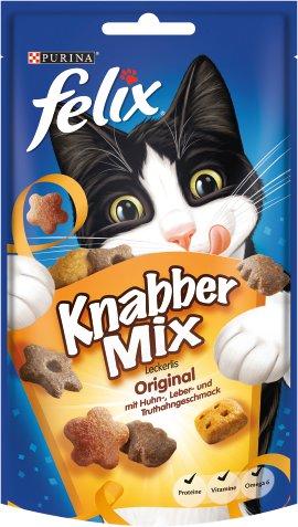 FELIX Katzensnack KnabberMix Original 8x60 g