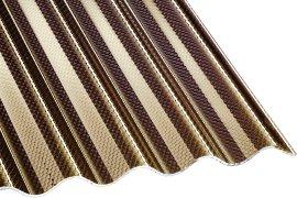 Wellplatte Acryl Wabe Bronze 3 mm