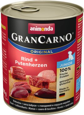 ANIMONDA Grancarno Junior Rind und Putenherzen 800 g