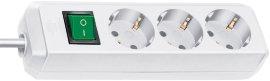 BRENNENSTUHL Steckdosenleiste mit Schalter und 5 m Kabel 3-fach weiß