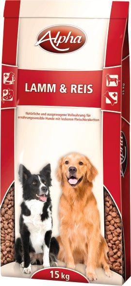 ALPHA Hundenahrung Lamm+Reis