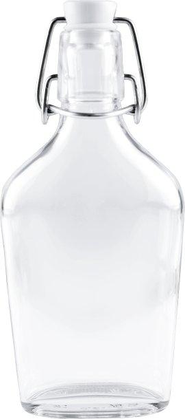Taschenflasche mit Bügelverschluss 200 ml