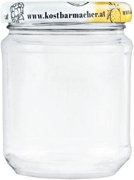 Vorratsglas mit Deckel Obstdekor 212 ml, 6 Stück