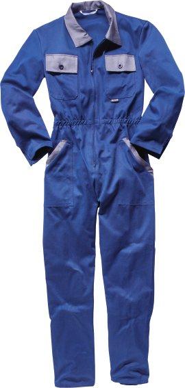 WERKSTOFF Overall Baumwolle blau/grau 46