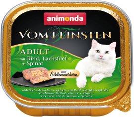 ANIMONDA Katzennahrung Vom Feinsten Schale mit Schlemmerkern Rind+Lachs+Spinat