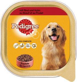 PEDIGREE Hundenahrung Schale Adult Rind und Huhn 10x300 g