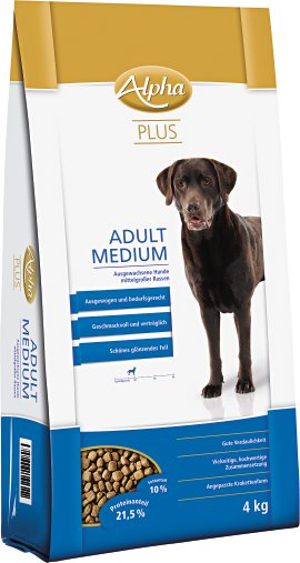 ALPHA PLUS Adult Medium 4 kg