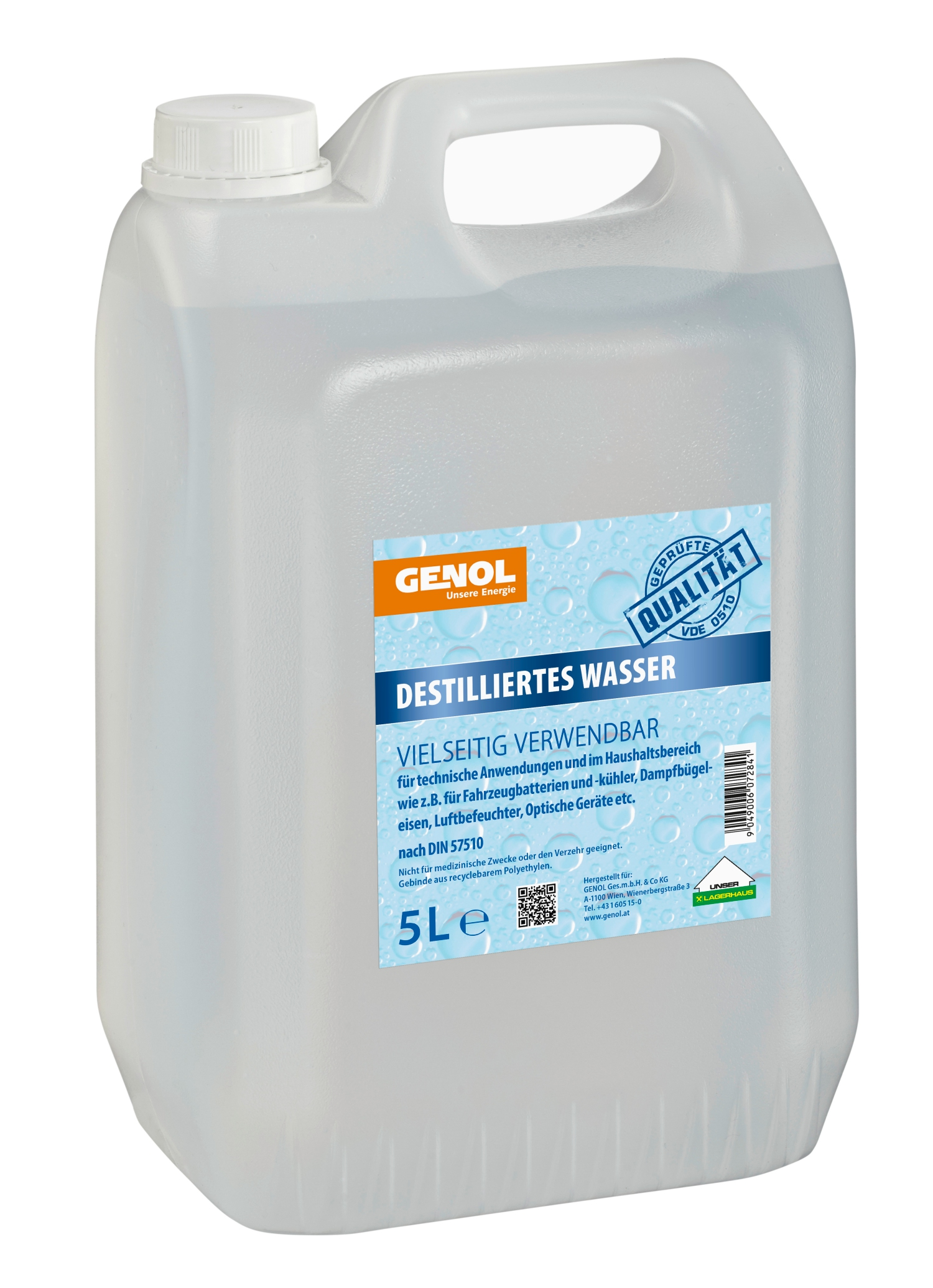 Genol Destilliertes Wasser 5l Lagerhaus