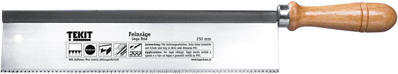 tekit feinsäge gerade mit holzheft, 250 mm | lagerhaus