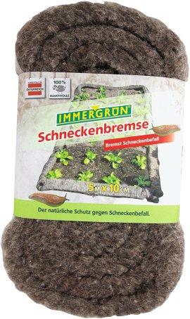 IMMERGRÜN Schneckenbremse aus Schafwolle 10x500 cm
