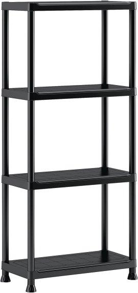 Kunststoffsteckregal schwarz 135x60x30 cm