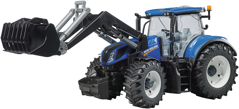 bruder traktor new holland mit frontlader  lagerhaus