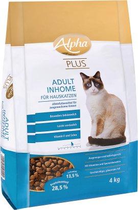 ALPHA PLUS Adult Inhome für Hauskatzen, 4 kg