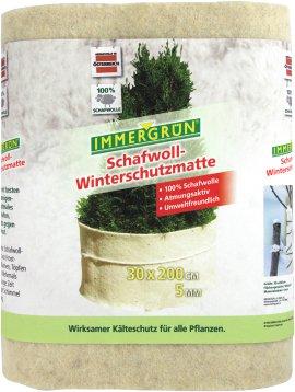 IMMERGRÜN Schafwoll-Winterschutzmatte Weiß 30x200 cm