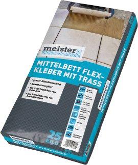 MEISTER Mittelbett- Flexkleber mit Trasszusatz, 25 kg