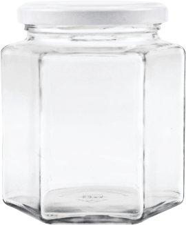 Vorratsglas 6 Kantform 390 ml, 6 Stück