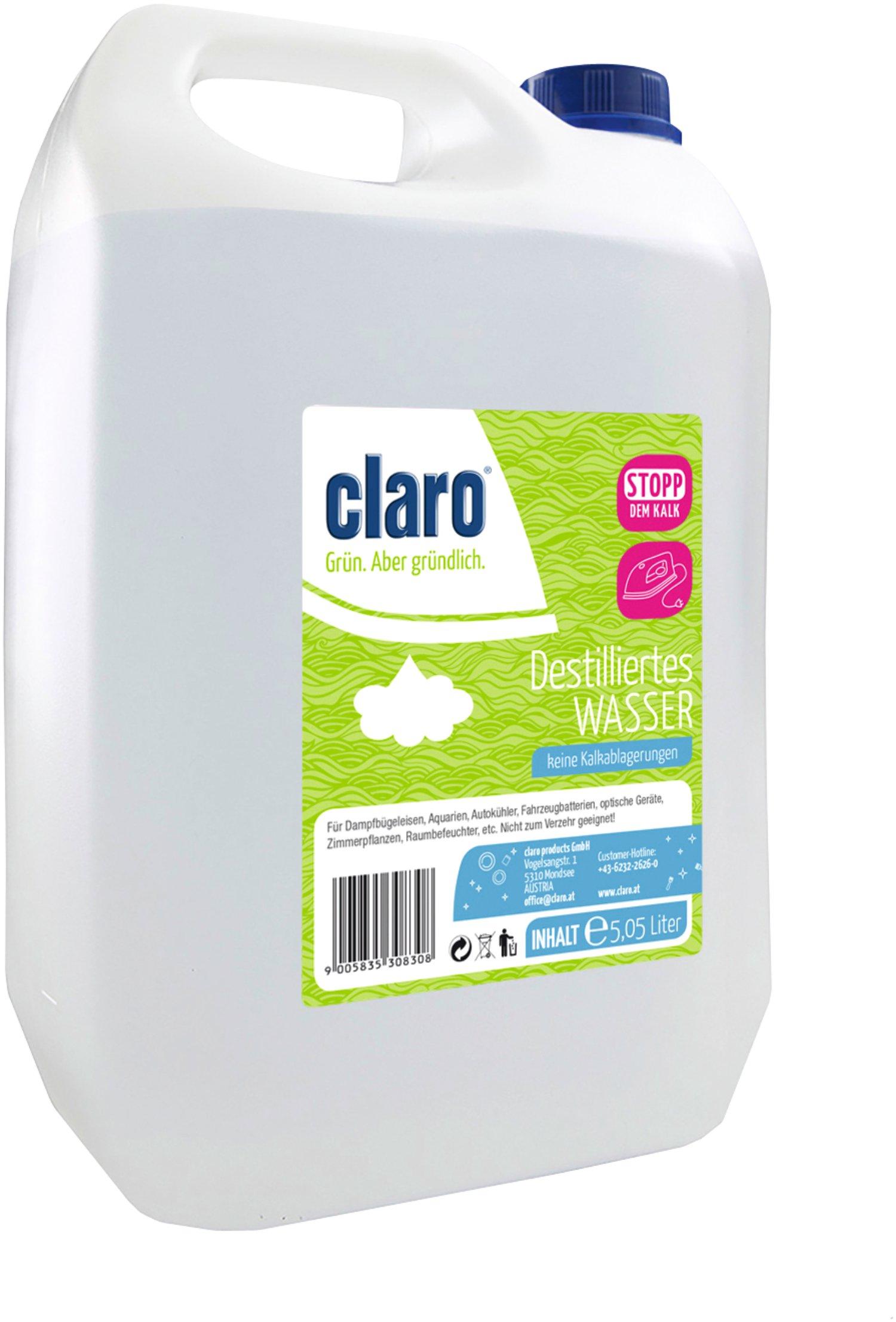 Claro Destilliertes Wasser 5l Lagerhaus