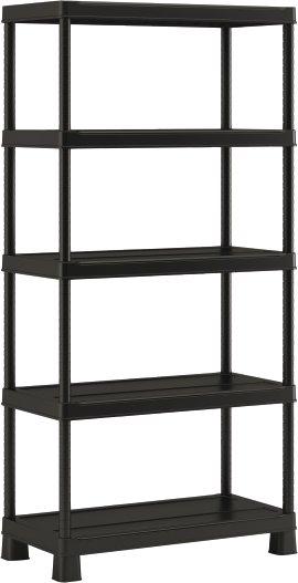 Kunststoffsteckregal schwarz 181x90x45 cm