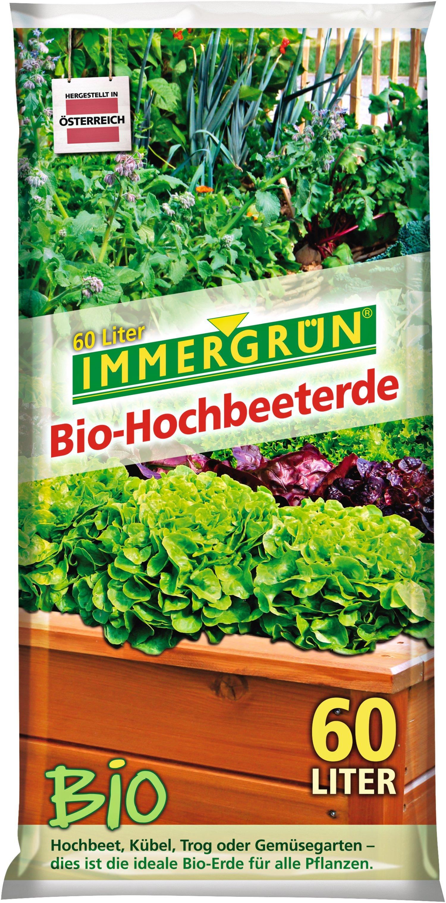 Immergrun Bio Hochbeeterde 60 L Lagerhaus
