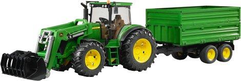 bruder traktor john deere 7930 mit frontlader und anh nger. Black Bedroom Furniture Sets. Home Design Ideas