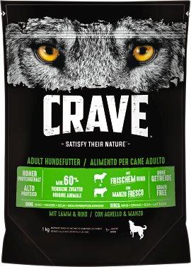 CRAVE Hundefutter trocken Lamm und Rind 1 kg